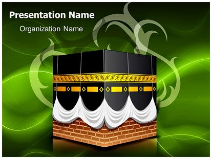 kaaba islam powerpoint template background | subscriptiontemplates, Modern powerpoint