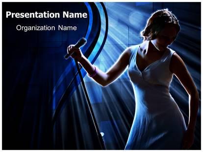 Karaoke singer powerpoint template background 1g toneelgroepblik Images