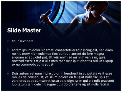 Karaoke singer powerpoint template background 1g 2g toneelgroepblik Images