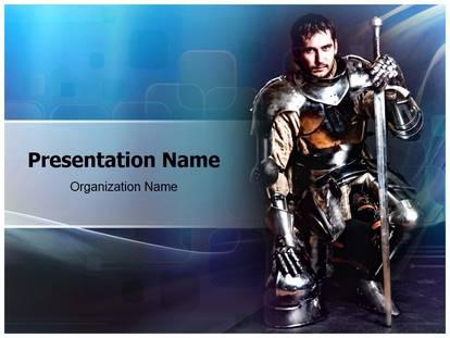 Knight powerpoint template background subscriptiontemplates 1g toneelgroepblik Choice Image
