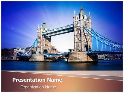 London tower bridge powerpoint template background 1g toneelgroepblik Image collections
