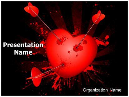 Love Broken Heart Powerpoint Template Background