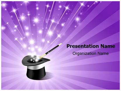 Magician Wand Magic Powerpoint Template Background