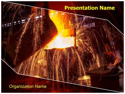 Metal casting powerpoint template background subscriptiontemplates 1g toneelgroepblik Choice Image