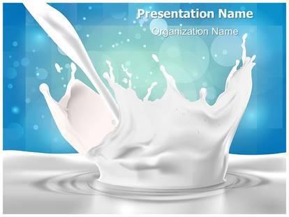 Milk splash powerpoint template background subscriptiontemplates 1g toneelgroepblik Image collections