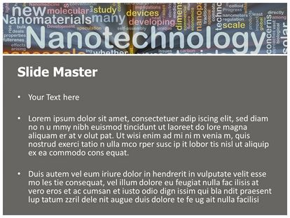 nanotechnology free powerpoint template | subscriptiontemplates, Presentation templates