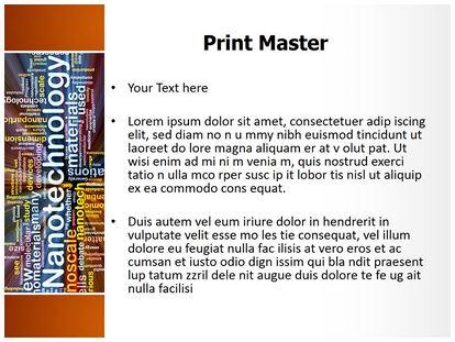 nanotechnology words powerpoint template background, Modern powerpoint