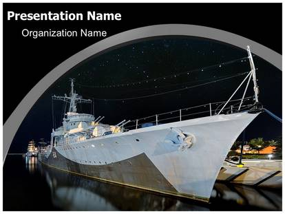 Navy boat powerpoint template background subscriptiontemplates 1g toneelgroepblik Image collections