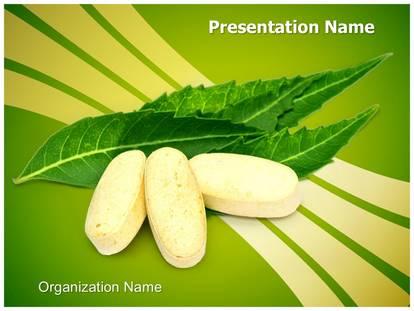 Neem leaves pills powerpoint template background 1g toneelgroepblik Images