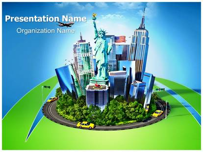 New york city powerpoint template background subscriptiontemplates 1g toneelgroepblik Images