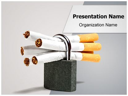 No Smoking Powerpoint Template Background Subscriptiontemplates
