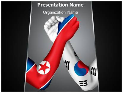 North and south korea powerpoint template background 1g toneelgroepblik Image collections