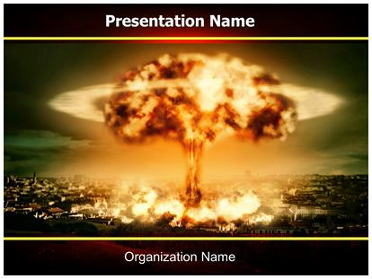 Nuclear bomb explosion powerpoint template background 1g toneelgroepblik Images