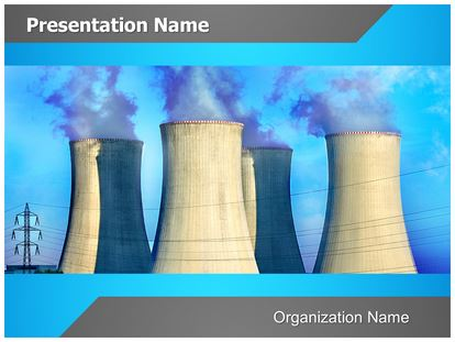 Nuclear Power Plant PowerPoint Template Background