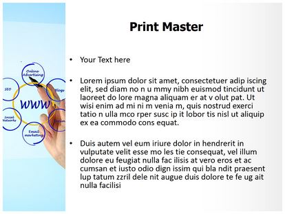 Online Advertising PowerPoint Template Background ...