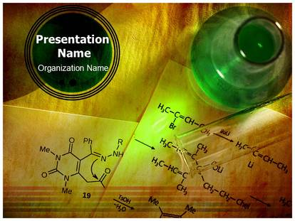 Organic Chemistry Powerpoint Template Background