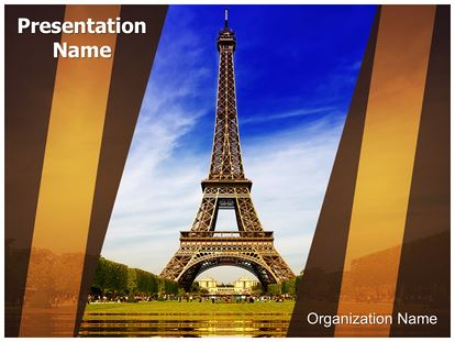 Paris Eiffel Tower Powerpoint Template Background