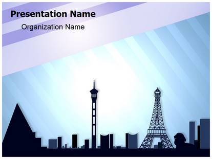paris in las vegas powerpoint template background, Modern powerpoint
