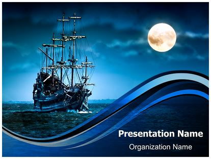 Pirate ship powerpoint template background subscriptiontemplates 1g toneelgroepblik Images