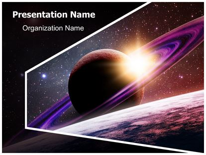 planet saturn powerpoint template background, Presentation templates