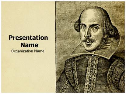 Portrait William Shakespeare Powerpoint Template Background