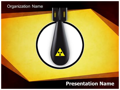 radioactive nuclear threat powerpoint template background, Powerpoint templates