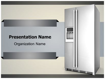 Refrigerator powerpoint template background subscriptiontemplates 1g toneelgroepblik Images