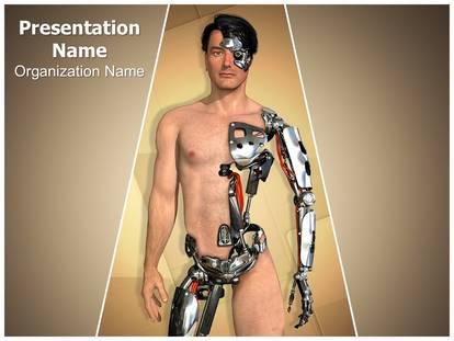 Robot amputation powerpoint template background 1g toneelgroepblik Images