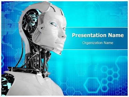 Robot Android PowerPoint Template Background ...