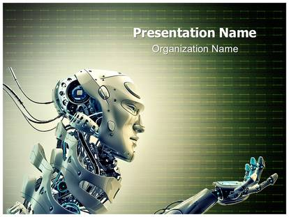 Group of robot ppt backgrounds template robot with gear mechanism industrial powerpoint templates and toneelgroepblik Images