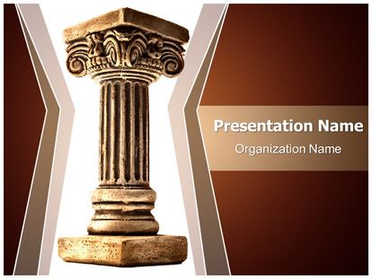 Roman pillar powerpoint template background subscriptiontemplates 1g toneelgroepblik Image collections