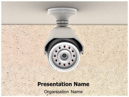 security cctv camera powerpoint template background, Presentation templates