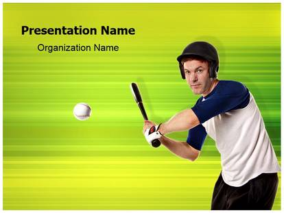 softball player powerpoint template background
