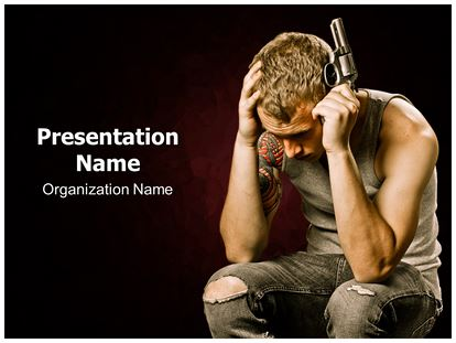 teen suicide powerpoint template background, Presentation templates