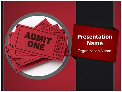 theatre ticket powerpoint template background. Black Bedroom Furniture Sets. Home Design Ideas