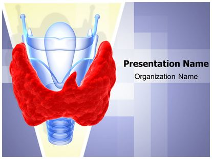 thyroid gland goiter powerpoint template background, Powerpoint templates