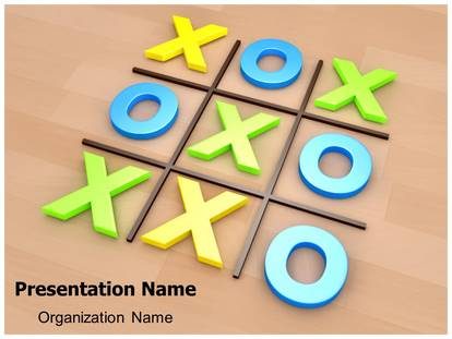 Tic Tac Toe Powerpoint Template Background  SubscriptiontemplatesCom