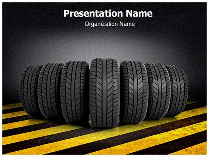 Tire Powerpoint Template Background
