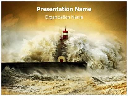 tsunami powerpoint template background | subscriptiontemplates, Presentation templates