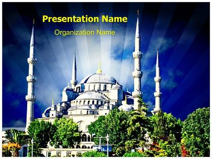 Turkey Mosque Powerpoint Template Background Subscriptiontemplates