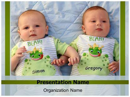 Twins babies powerpoint template background subscriptiontemplates 1g toneelgroepblik Choice Image