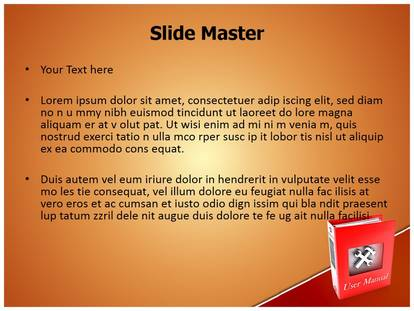 user manual book powerpoint template background rh subscriptiontemplates com user guide powerpoint 2007 user guide powerpoint