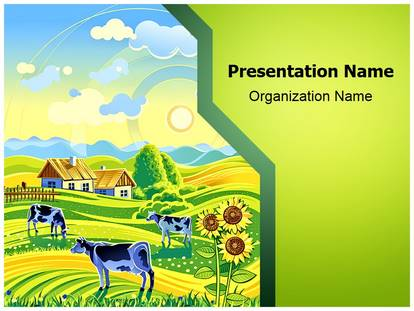 Village agriculture farm powerpoint template background 1g toneelgroepblik Images