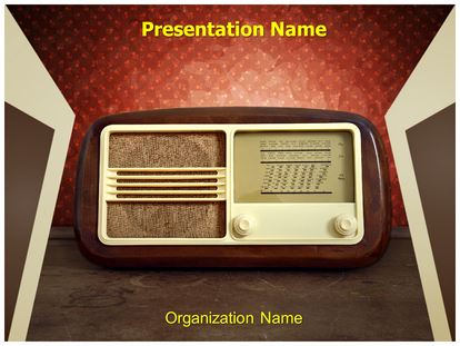Microsoft powerpoint presentation template of radio brettfranklin vintage radio powerpoint template background presentation templates toneelgroepblik Images