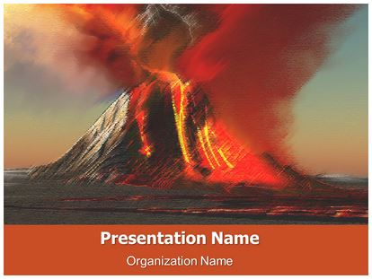 Volcano free powerpoint template subscriptiontemplates 1 toneelgroepblik Image collections