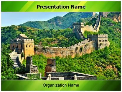 China powerpoint template free download chinese new year powerpoint wall of china powerpoint template background toneelgroepblik Gallery