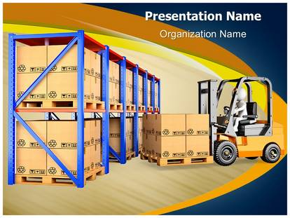 Warehouse forklift powerpoint template background 1g toneelgroepblik