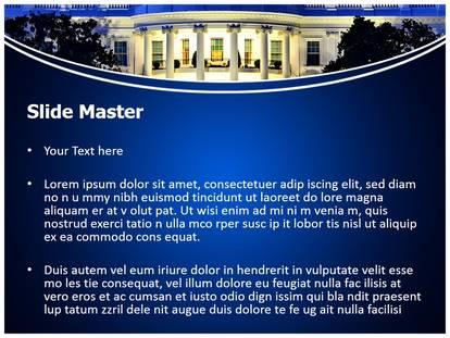 Washington White House Powerpoint Template Background