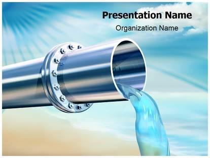 Water Pipe Powerpoint Template Background | Subscriptiontemplates.Com