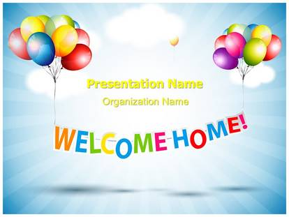 welcome home powerpoint template background, Powerpoint templates